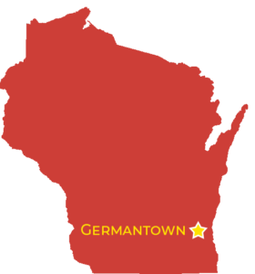 Germantown map in wisconsin outline